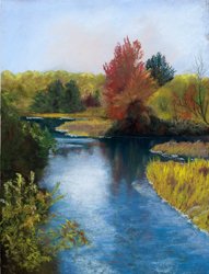Autumn Reflections painting