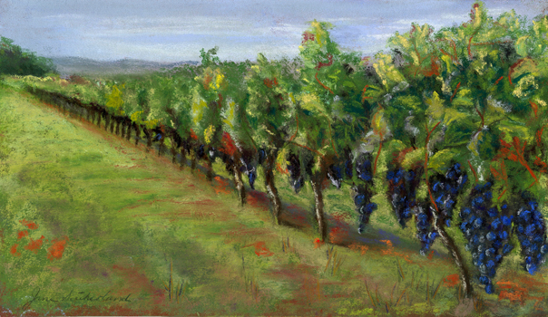 Malbec Vineyard painting