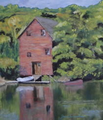 The Old Boathouse painting