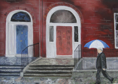 Rainy Day in Dublin painting
