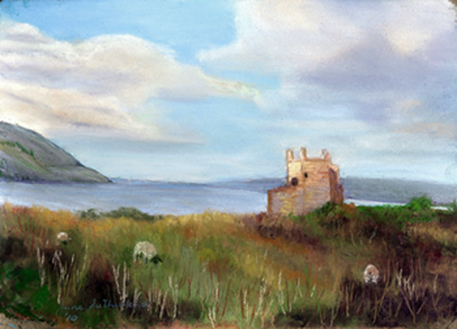 Urquhardt Castle painting